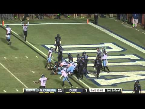 UNC Football: Ryan Switzer Lays Out for the Grab vs. Duke