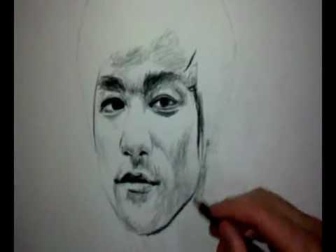 Retrato realístico puxando - Bruce Lee Portrait - YouTube