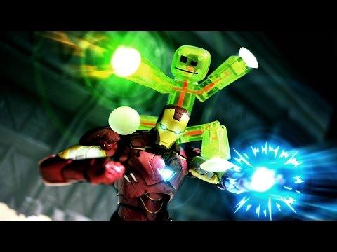 フィギュアのストップモーション映像が熱い!【アイアンマンとStikbot】