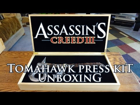 Assassins Creed III 3 Connor Kenway's Tomahawk Press Kit Unboxing & Review - HD 1080p