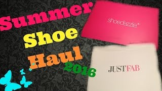 "Summer  Shoe Haul 2016 ""Featuring Just Fab & Shoe Dazzle"