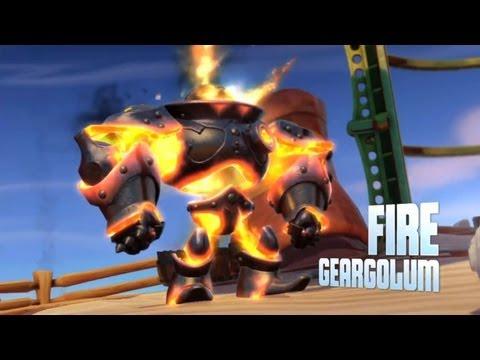 Skylanders: Swap Force - Wash Charge Gameplay + Fire Geargolum MINI-BOSS!