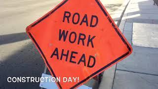 JT Day: Construction BLIPPI doll bull dozer excavator trucks cars toys bike ride drill