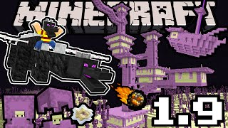 Minecraft 1.9 Snapshot: Dragon Update, Shulker, End City Sky Ship, New Blocks, Arrows, Dual Wield