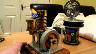 Stirling Engine running on mug of hot wate