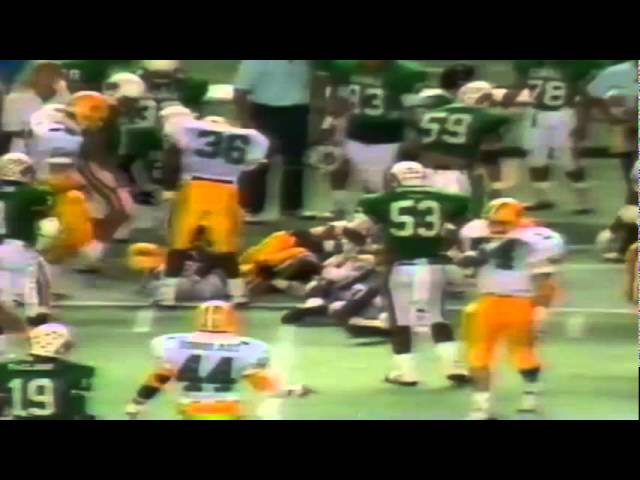 Oregon CB Chris Oldham 53 yard kickoff return vs. Hawaii 12-03-1988