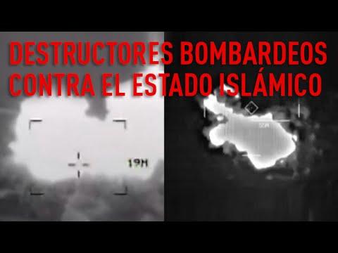 EE.UU. muestra imágenes de sus bombardeos contra el Estado Islámico en Irak