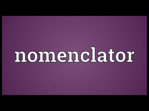 Header of nomenclator