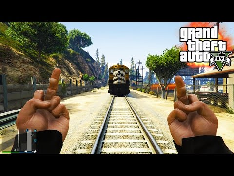 GTA V - RANDOM & FUNNY MOMENTS 28 (Screw You Train, Bug Galore!)