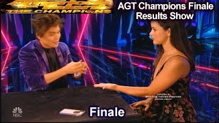 Shin Lim with Melissa Fumero | America's Got Talent Champions Finale Results AGT