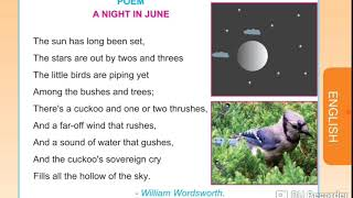 A night in June poem with Tamil meaning 4th STD English memory poem with Tamil translate