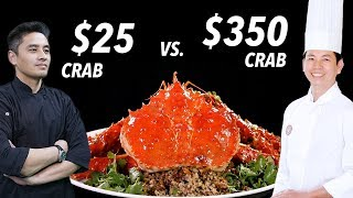 $25 Crab vs. $350 King Crab by Master Chef • Taste The Chinese Recipes Show