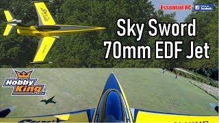 HobbyKing SkySword 70mm EDF Sport Jet: ESSENTIAL RC FLIGHT TEST (Aerobatic and Onboard Video !)