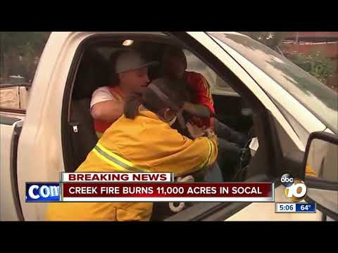 Creek Fire Burns 11,000 Acres in SoCal