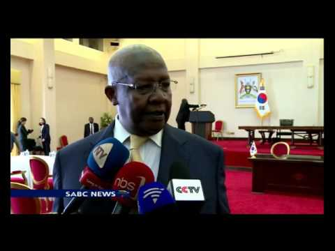 South Korean Pres. Park Geun-hye in Uganda as part of her Africa tour