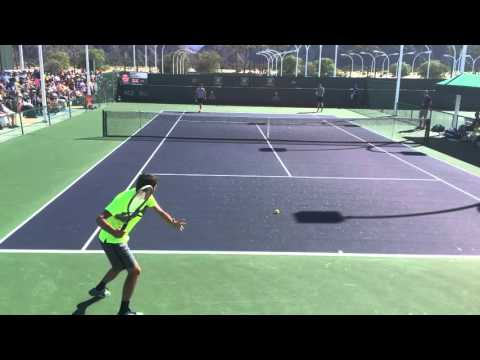 Taylor Fritz Practice with Andy Murray Indian wells