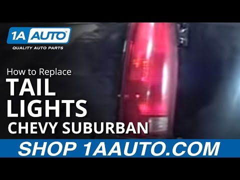 How To Install Replace Taillight Chevy Silverado GMC Sierra Suburban Yukon Tahoe 88-98 1AAuto.com
