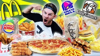 THE $50 FAST FOOD CHALLENGE! (9,000+ CALORIES)