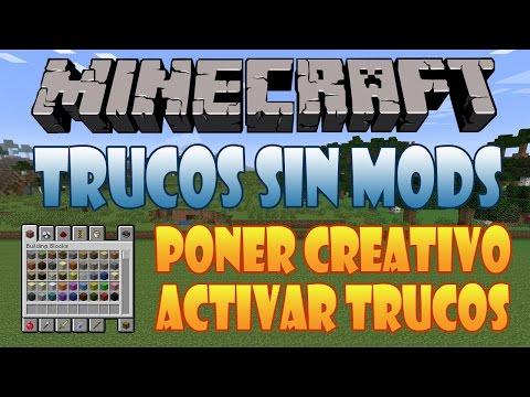 02# Como Poner En Creativo y Activar Trucos En Mitad De Partida | Minecraft 1.7.5 | Trucos Sin Mods