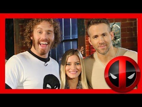 DEADPOOL! Ryan Reynolds and TJ Miller interview