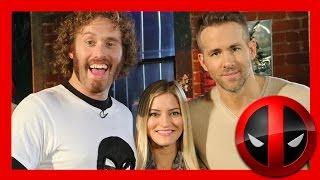 DEADPOOL! Ryan Reynolds and TJ Miller interview | iJustine