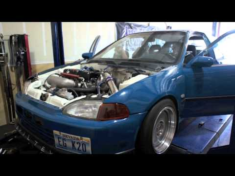 AWD K20 Turbo Civic Hatch Dyno