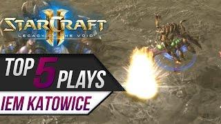 Starcraft 2 - TOP 5 Plays: IEM Katowice