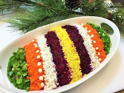 СЕЛЁДКА ПОД ШУБОЙ Салат,  секреты приготовления. Как легко украсить салат.  Salad with Herring/