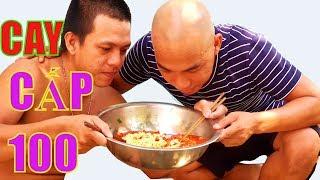 THỬ ĂN MÌ SIÊU CAY CẤP ĐỘ 100 - THỬ THÁCH ĂN MÌ CAY VỚI ỚT - Sơn Dược Vlogs