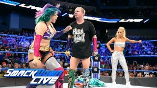 Asuka confronts Carmella and James Ellsworth: SmackDown LIVE, June 19, 2018