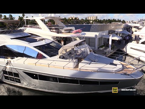 2019 Azimut S7 Luxury Yacht - Deck and Interior Walkaround - 2018 Fort Lauderdale Boat Show