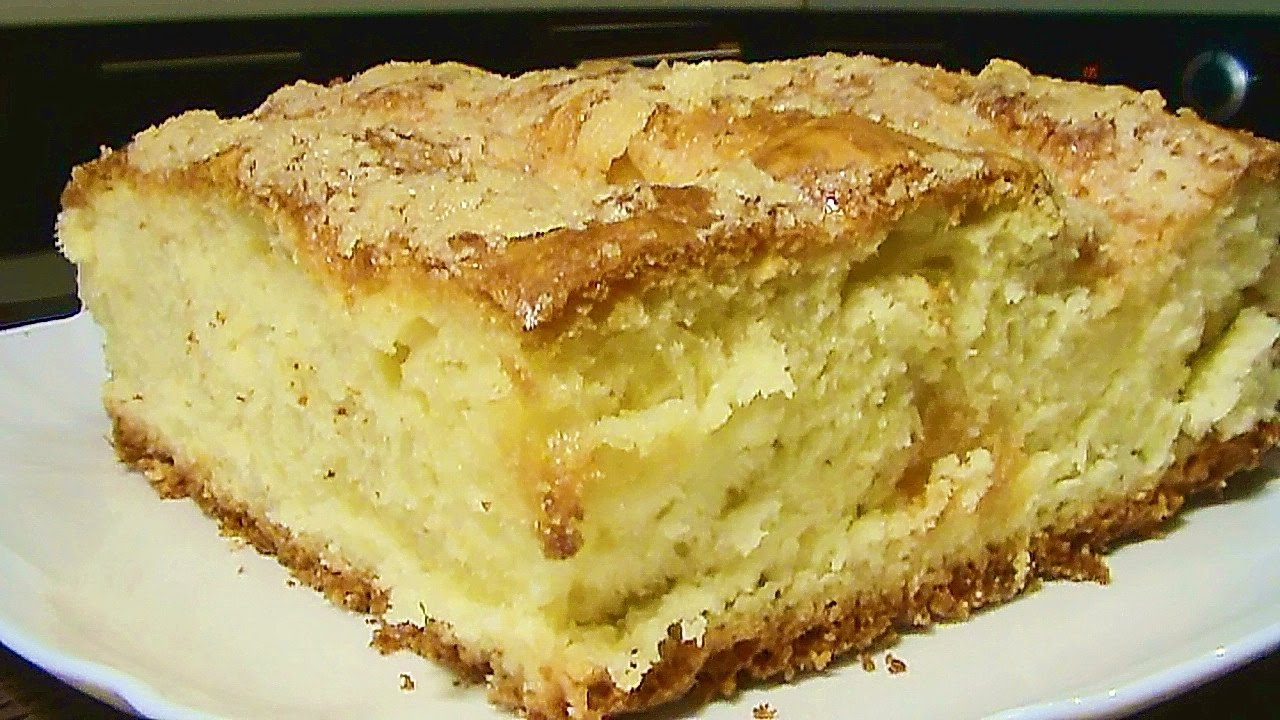 Сахарный пирог со сливками рецепт с фото