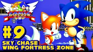 Sonic the Hedgehog 2 Genesis - (1080p) Part 9 - Sky Chase & Wing Fortress Zone