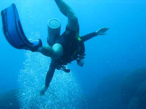Micheal Downing's travel clip 13b- me swimming on the Great Barrier Reef
