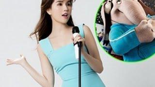 Tin Nhanh - Ngọc Trinh lồng tiếng cho phim 'Đấu trường âm nhạc'