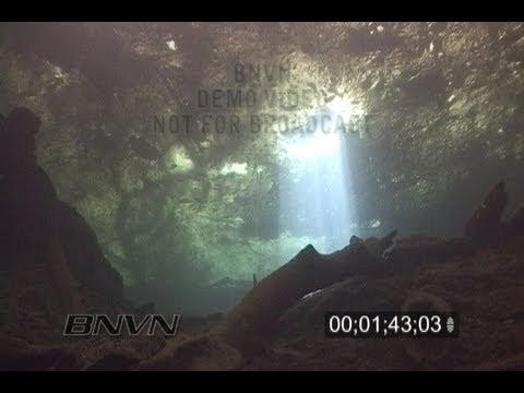 2/27/2007 Scuba Diving Light Pillars Video - Manatee Springs Fl