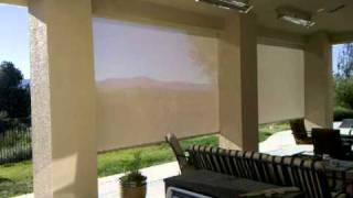 Behind The Shelly's Retractable Patio Screen (Lt)