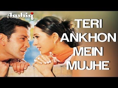 Teri Aankhon Mein - Aashiq   Bobby Deol & Karisma Kapoor   Alka Yagnik & Udit Narayan