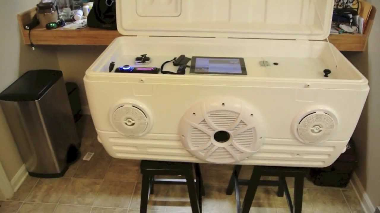 Ice Chest Speaker Cooler Part 1 Of 2 Youtube