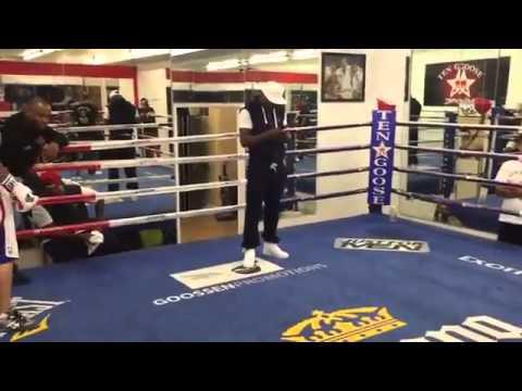 Justin lutando boxe com Floyd Mayweather 20/10/2014