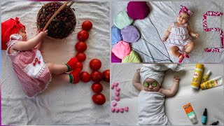Siz Olsanız Bebeğinize Bunları Yaparmısınız | Baby Photoshoot İdea at home