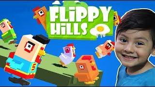 Flippy Hills Gameplay   El Pollito Pio Brincando   Juegos Infantiles para niños