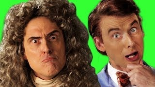 Sir Isaac Newton vs Bill Nye. ERB Behind The Scenes
