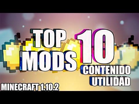 TOP 10 MODS para MINECRAFT 1.10.2 - MEJOR CONTENIDO & UTILIDAD - REVIEW