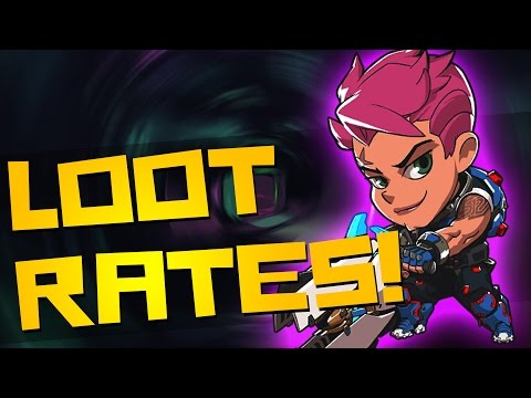 Everything We Know About Overwatch Loot Box Drop Rates!! (Zarya Gameplay)