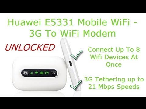 Huawei Mobile Wifi E5331 Review- Convert 3G To WiFi With Portable 3G WiFi Modem