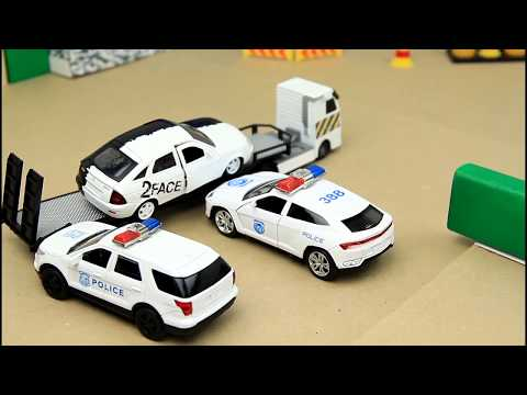 Police Chase with Police Cars Helicopter Bike vs sport cars Video For Kids