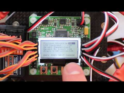 Hobbyking KK2.0 Multi-rotor LCD Flight Control Board - Walkthrough