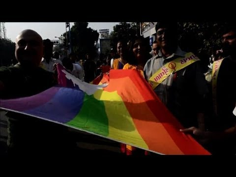 India's LGBT community parade on World Aids Day