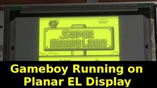 Gameboy Running on Planar EL Display 512x256